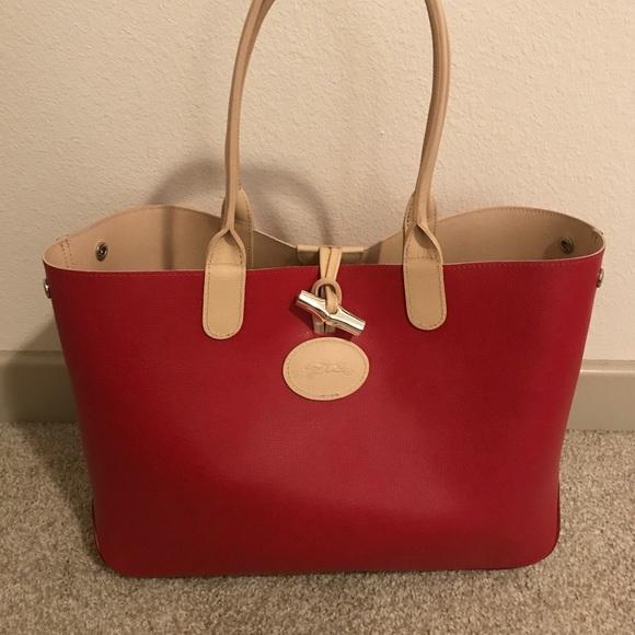 092fa4b6dc5 Bags | Longchamp Roseau Reversible Leather Tote Bag | Poshmark